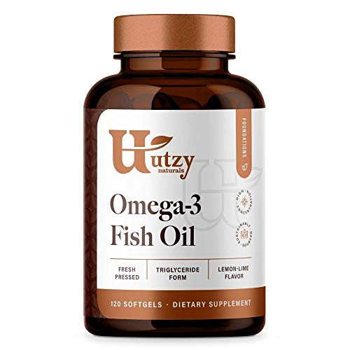 Omega 3 Fish Oil | Natural Triglyceride Fish Oil | 120 Softgels | Lemon-Lime Flavor | Pharmaceutical Grade | 3rd Party Tested