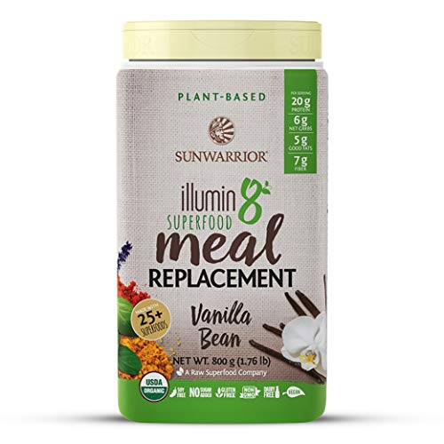 Sunwarrior - Illumin8 Plant-Based Superfood Meal Replacement, Organic, Vegan, Non-GMO (Vanilla Bean, 20 Servings)