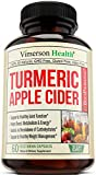 Turmeric Apple Cider Vinegar Supplement with Ginger and Bioperine. Natural Detox and Cleanse. Joint Support, Boost Metabolism, Supports Weight Management and Occasional Bloating Relief