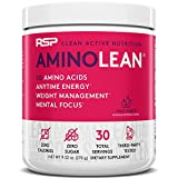 RSP AminoLean - All-in-One Pre Workout, Amino Energy, Weight Management Supplement with Amino Acids, Complete Preworkout Energy for Men & Women, Fruit Punch, 30 (Packaging May Vary)
